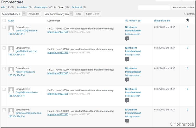 Screenshot_2019-02-01 Kommentare ‹ Flohnmobil - im Alltag unterwegs — WordPress(1)